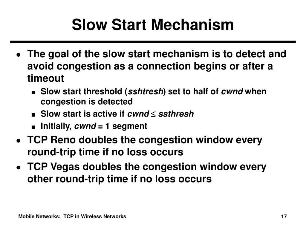Slow Start Mechanism