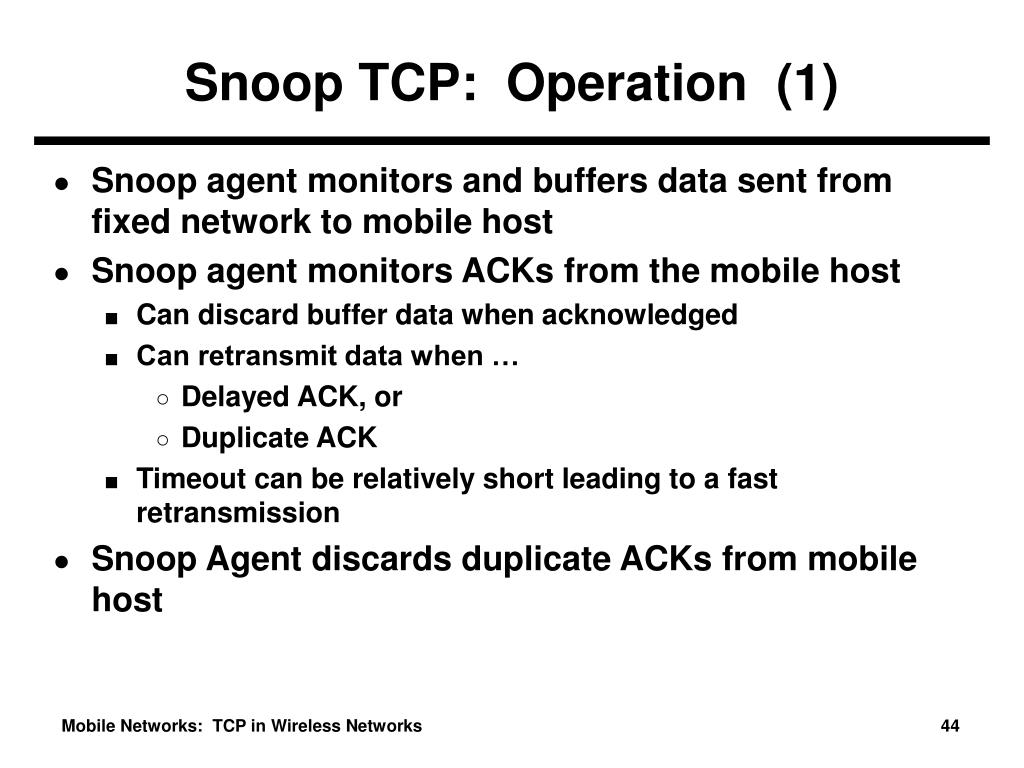 Snoop TCP:  Operation  (1)