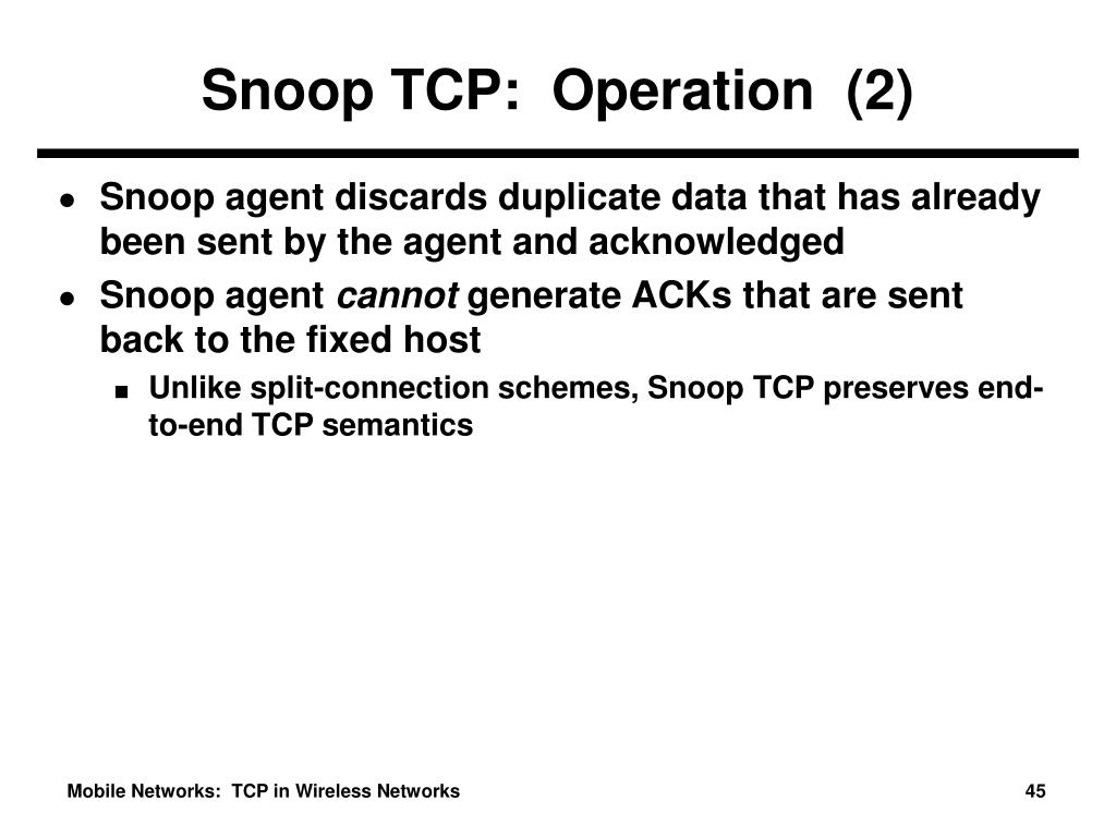 Snoop TCP:  Operation  (2)