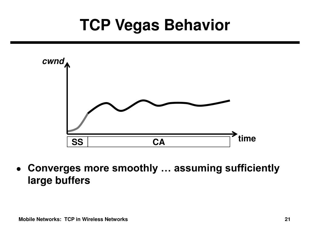 TCP Vegas Behavior