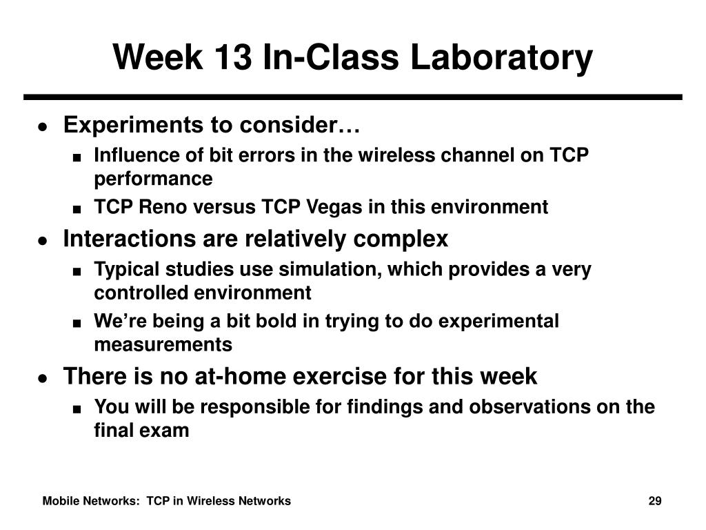 Week 13 In-Class Laboratory