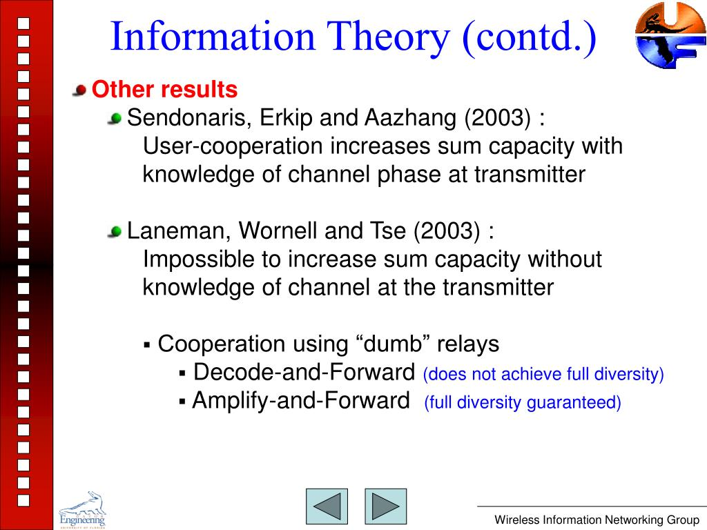 Information Theory (contd.)