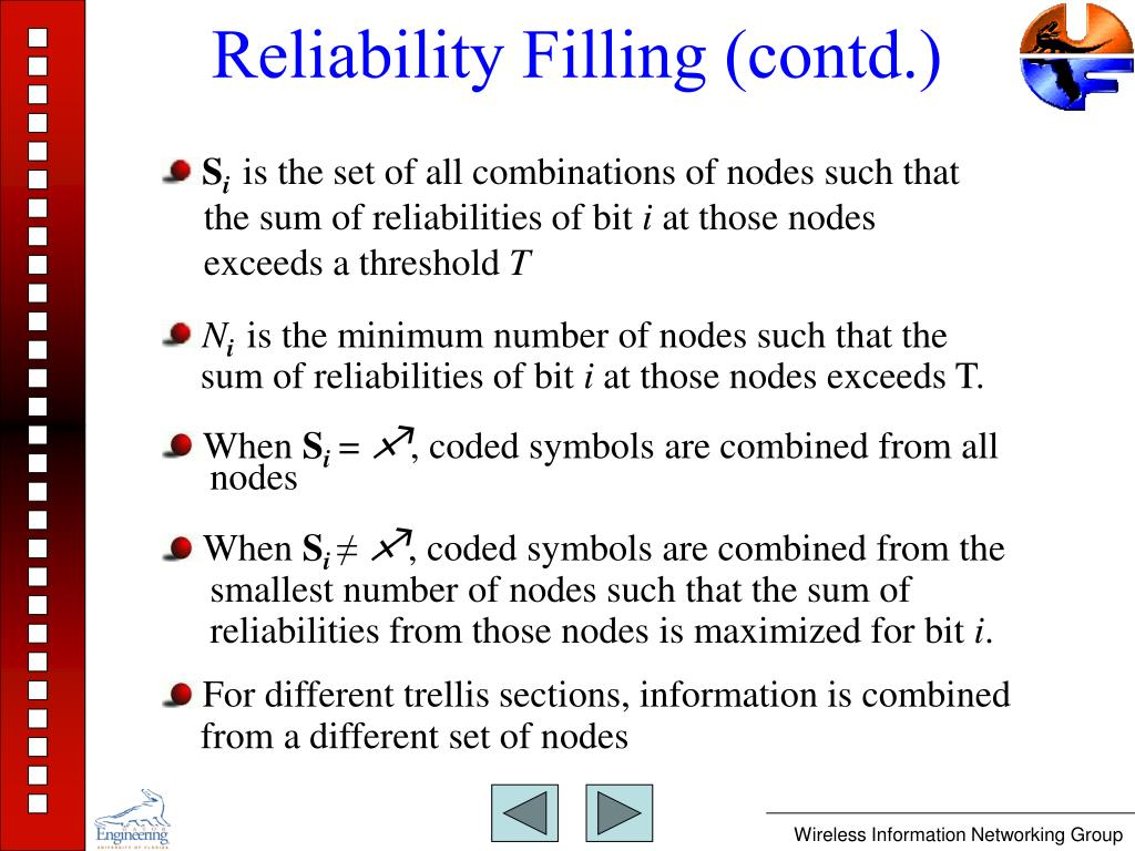 Reliability Filling (contd.)