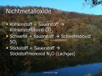 nichtmetalloxide