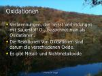 oxidationen