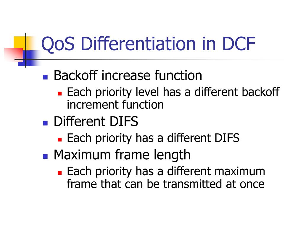 QoS Differentiation in DCF
