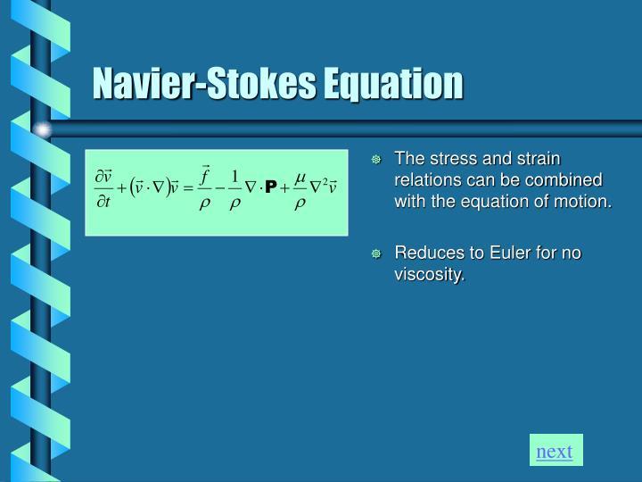 Navier-Stokes Equation