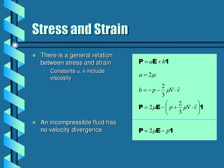 There is a general relation between stress and strain