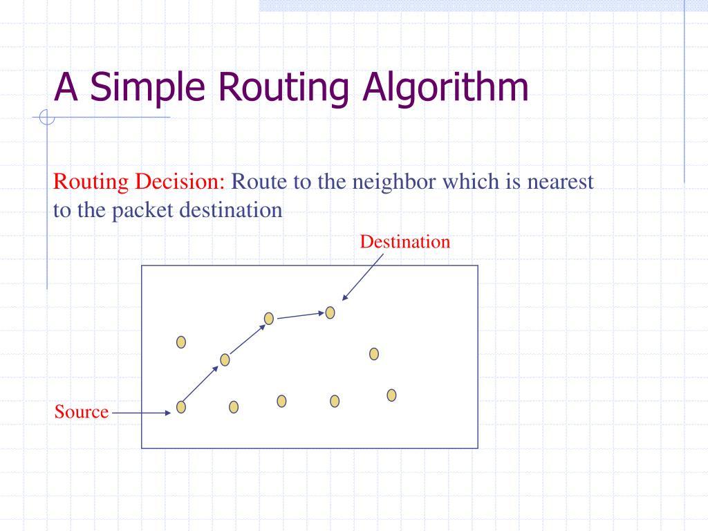 A Simple Routing Algorithm