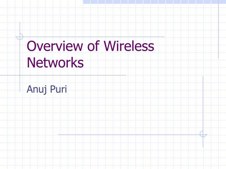 Overview of wireless networks l.jpg