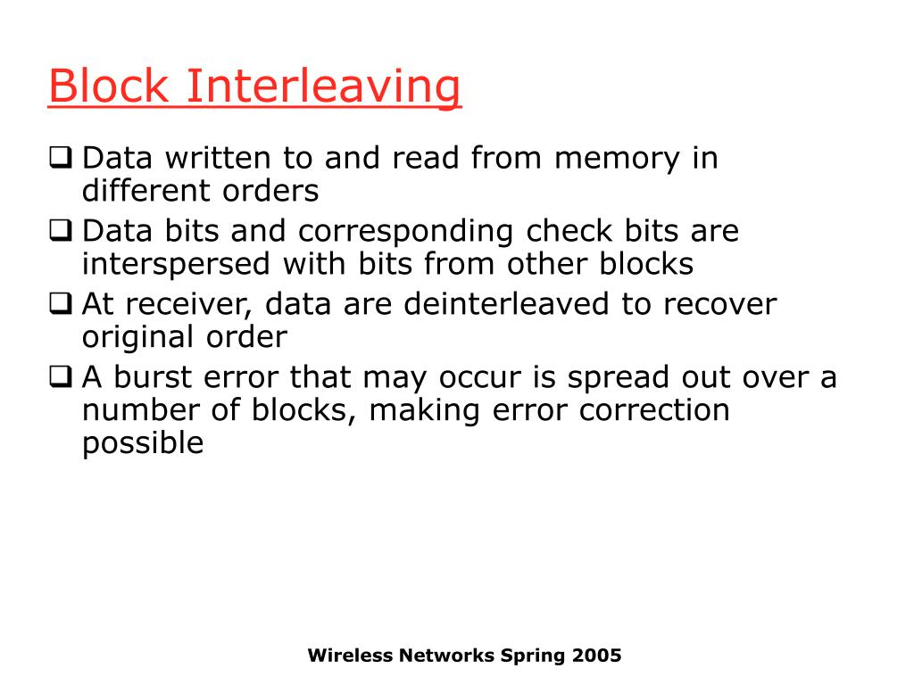 Block Interleaving
