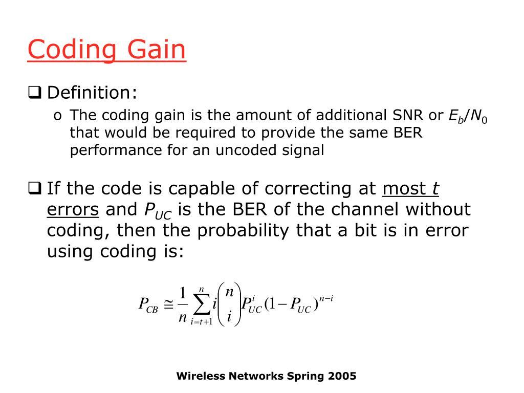 Coding Gain