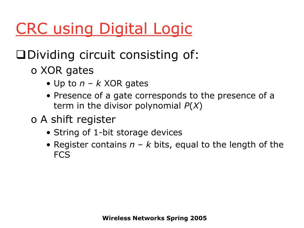 CRC using Digital Logic