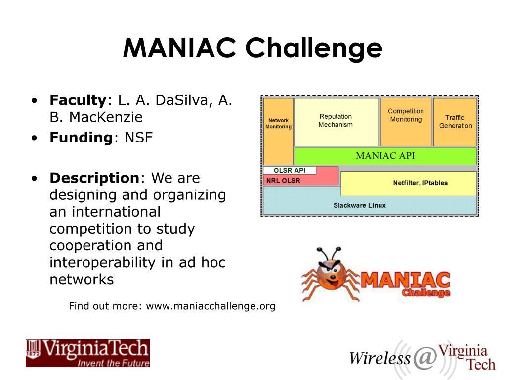MANIAC Challenge