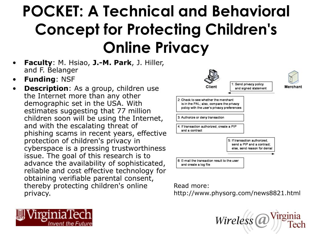 POCKET: A Technical and Behavioral Concept for Protecting Children's Online Privacy