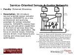 service oriented sensor actuator networks