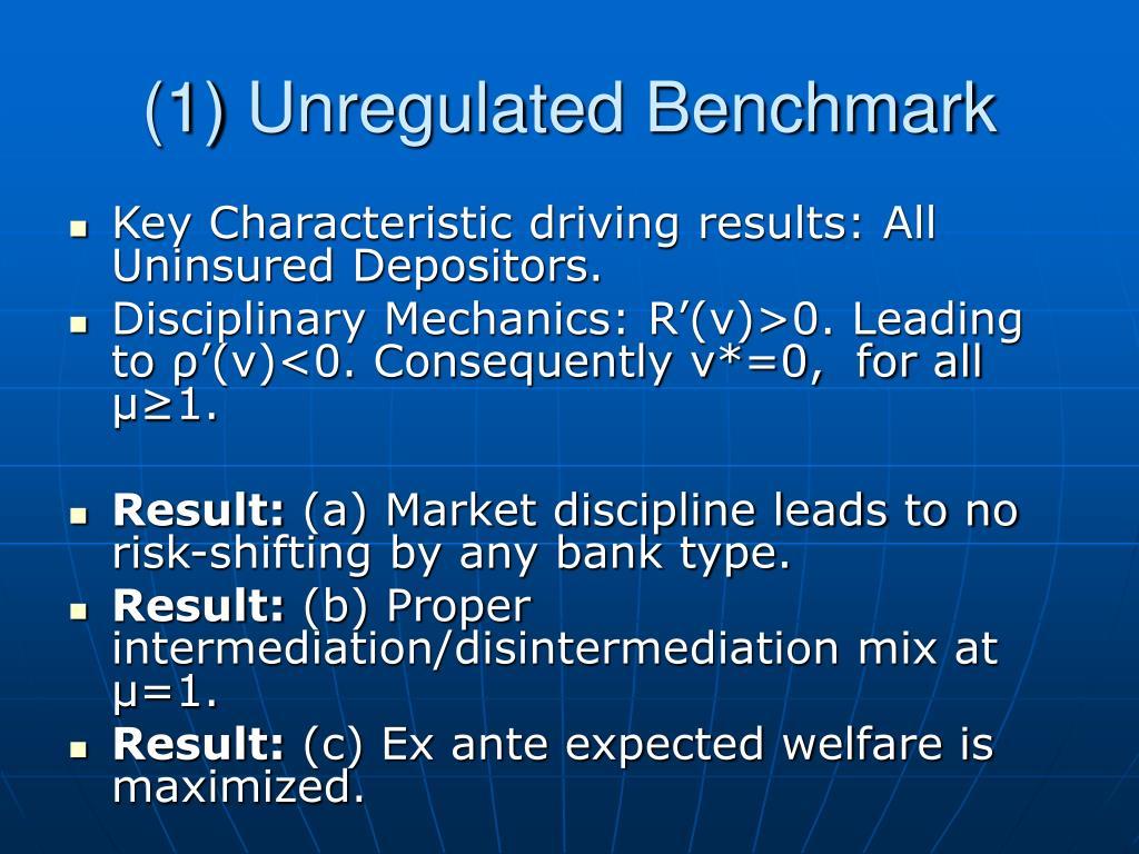 (1) Unregulated Benchmark