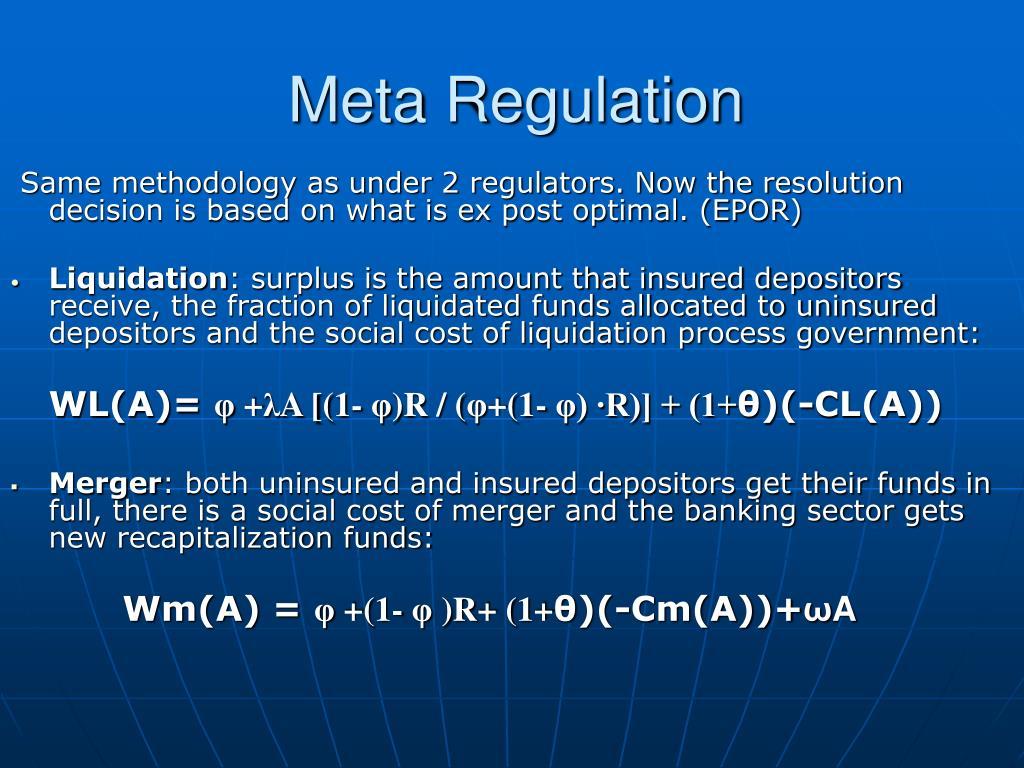 Meta Regulation