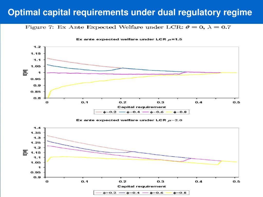 Optimal capital requirements under dual regulatory regime