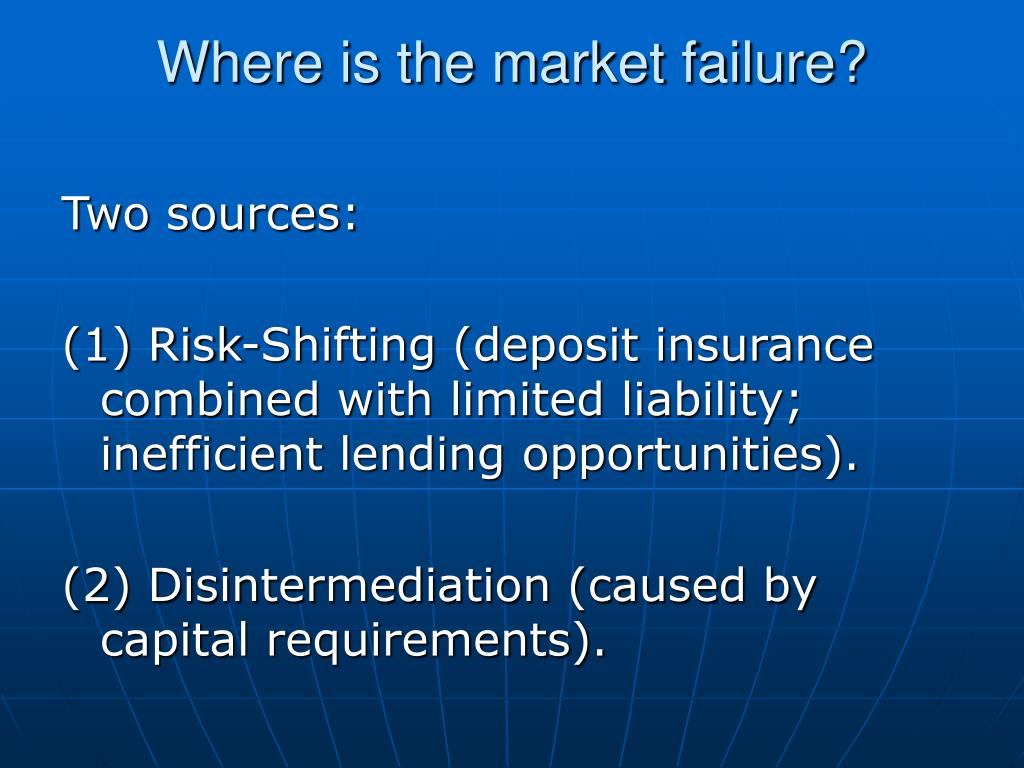 Where is the market failure?