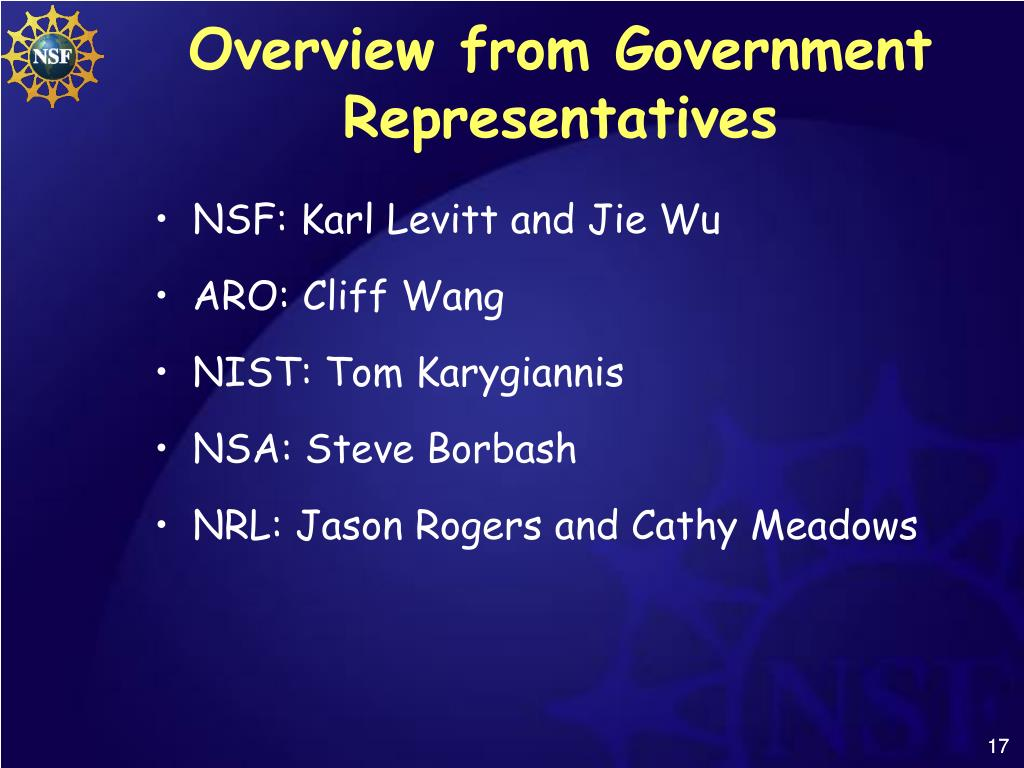 Overview from Government Representatives