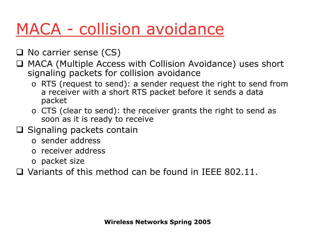 MACA - collision avoidance