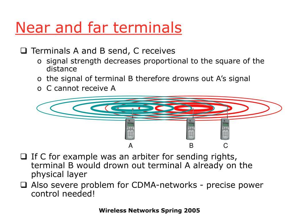 Near and far terminals