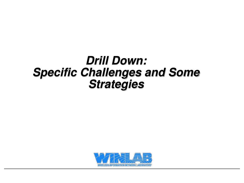 Drill Down: