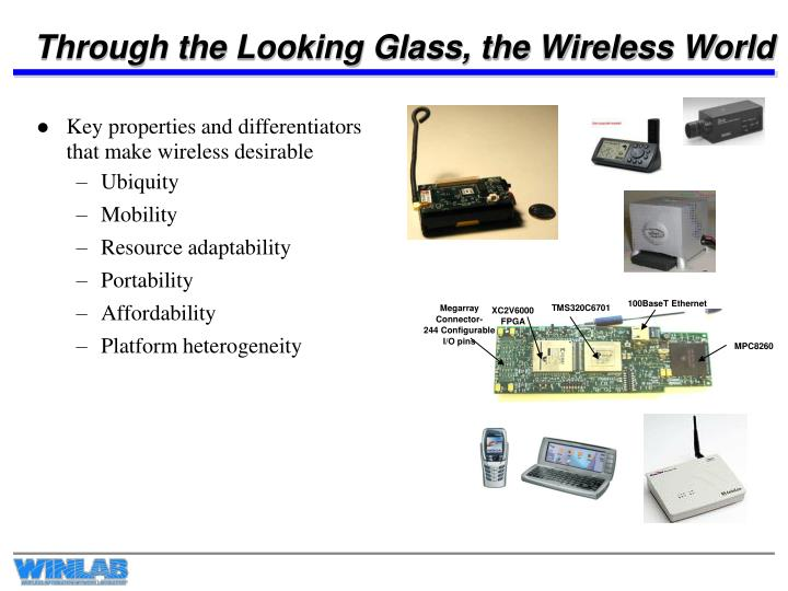 Through the looking glass the wireless world