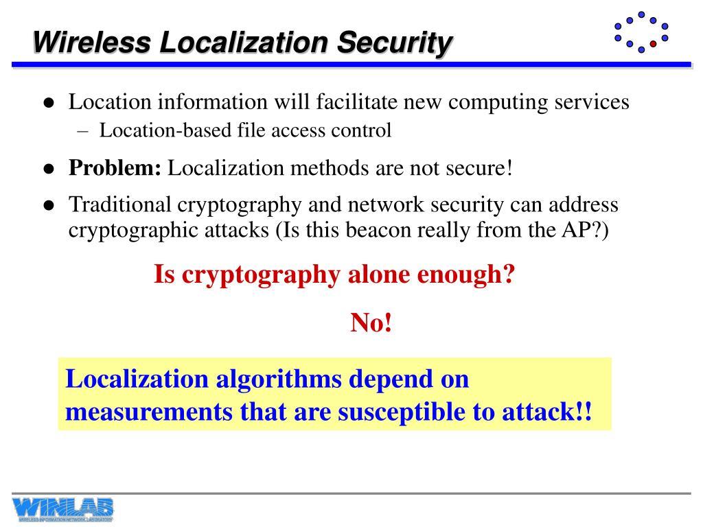 Wireless Localization Security