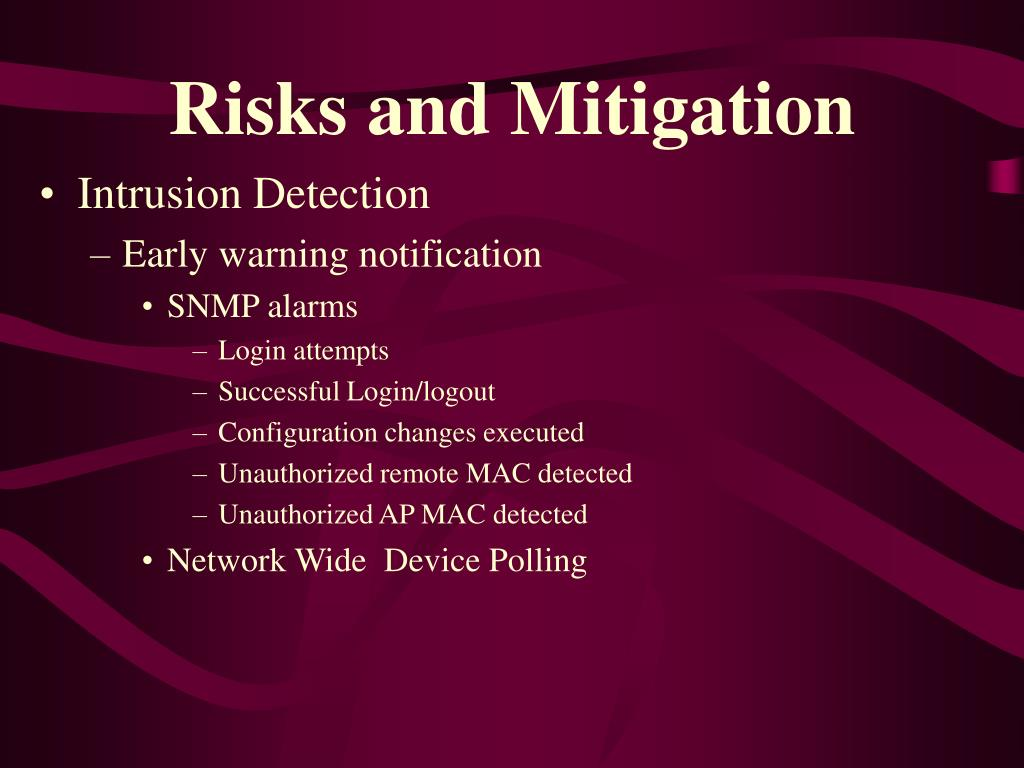 Risks and Mitigation