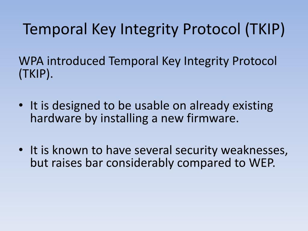Temporal Key Integrity Protocol (