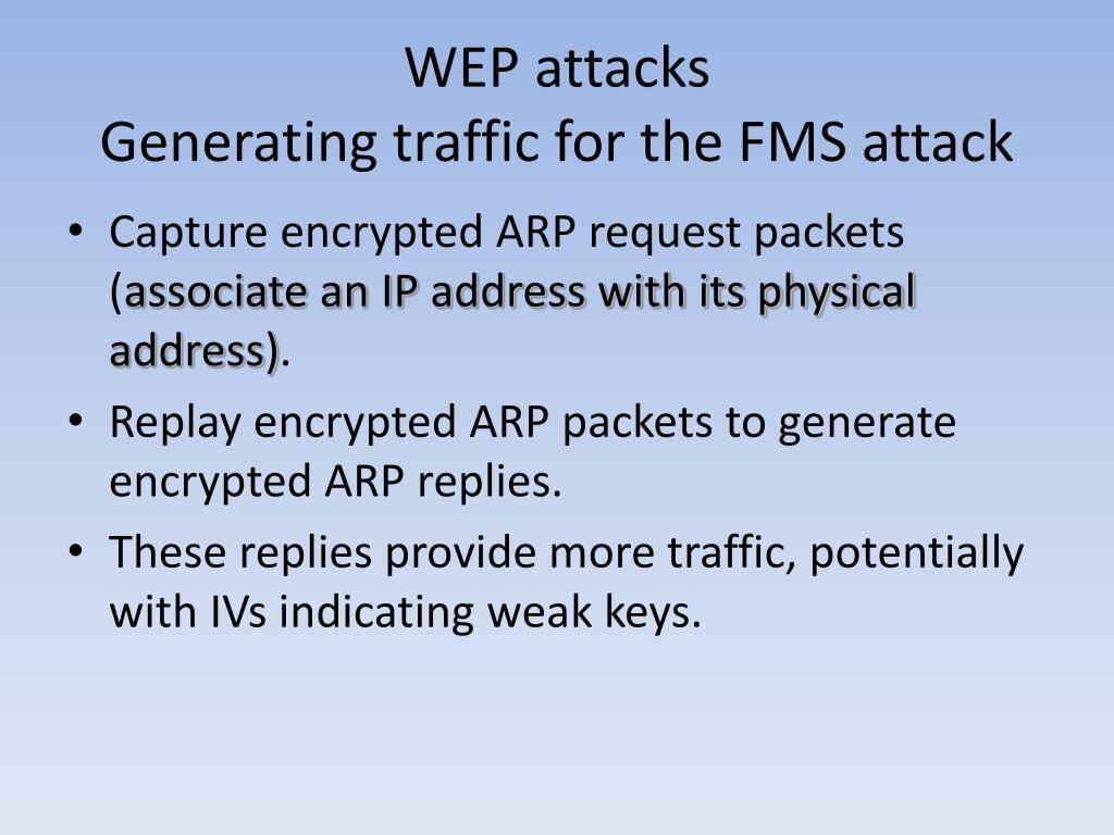 WEP attacks