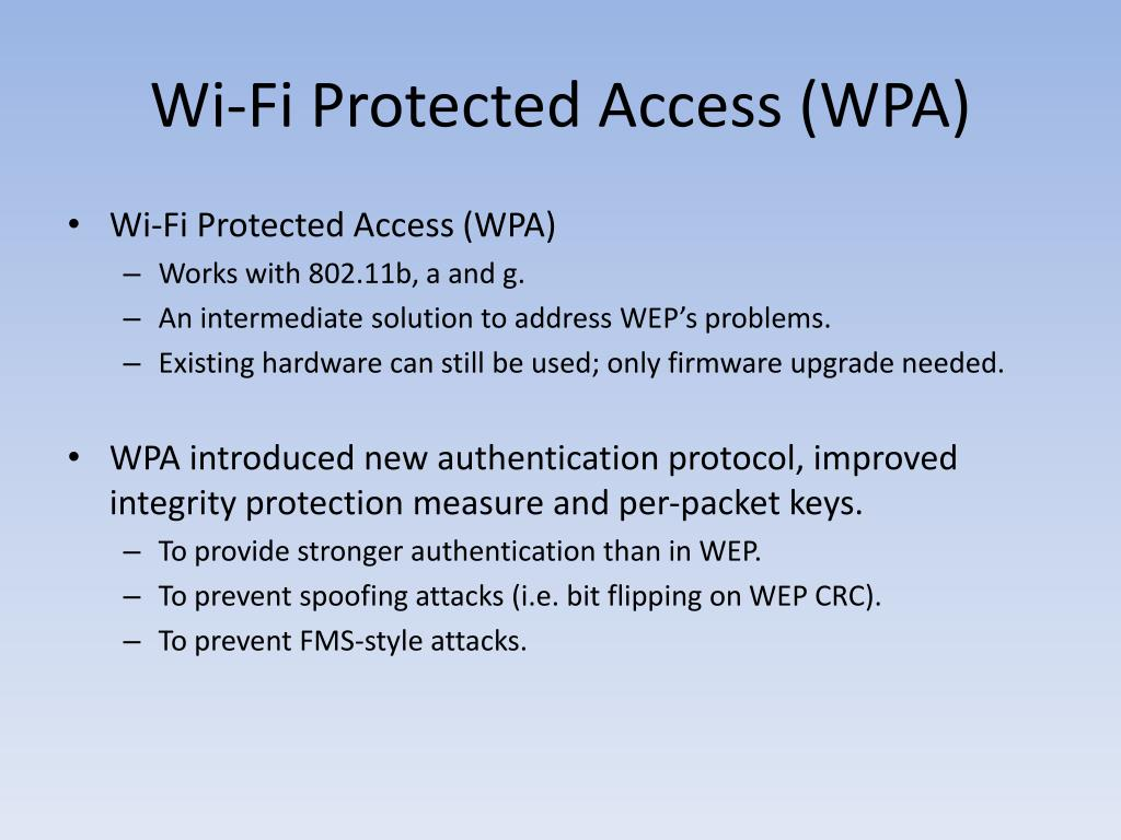 Wi-Fi Protected Access (WPA)