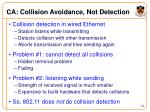 ca collision avoidance not detection