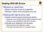 dealing with bit errors