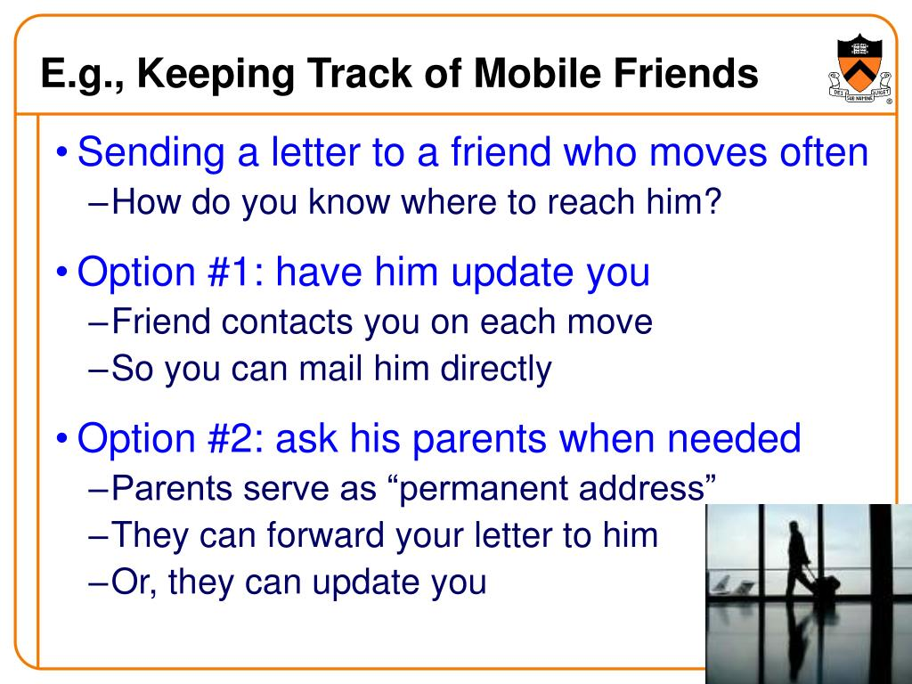 E.g., Keeping Track of Mobile Friends