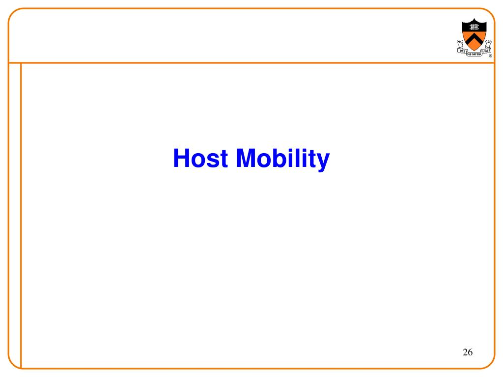 Host Mobility