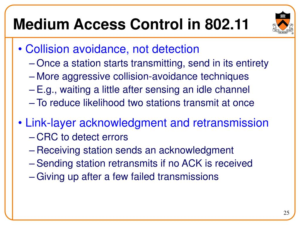 Medium Access Control in 802.11