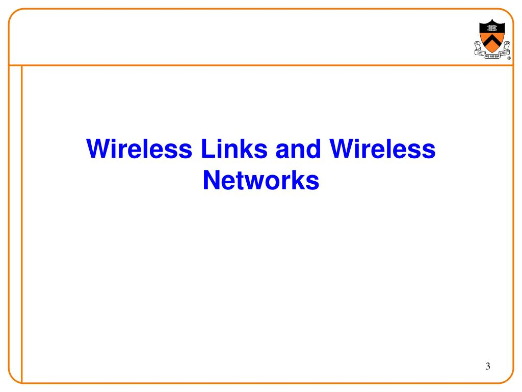 Wireless Links and Wireless Networks