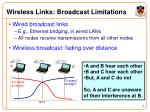 wireless links broadcast limitations9