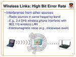 wireless links high bit error rate5