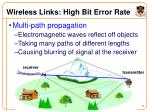 wireless links high bit error rate6