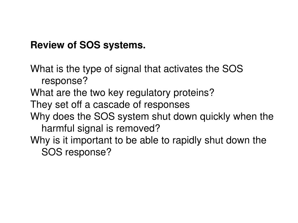 Review of SOS systems.