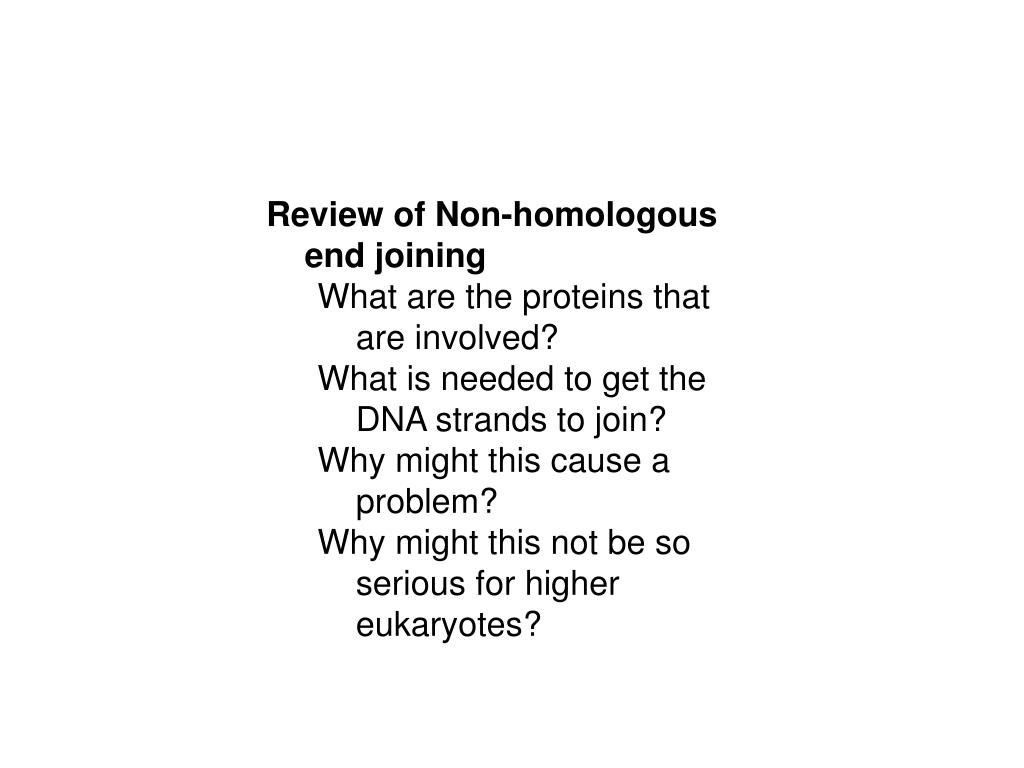 Review of Non-homologous end joining