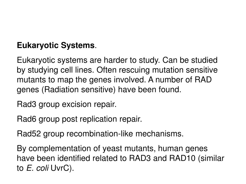 Eukaryotic Systems