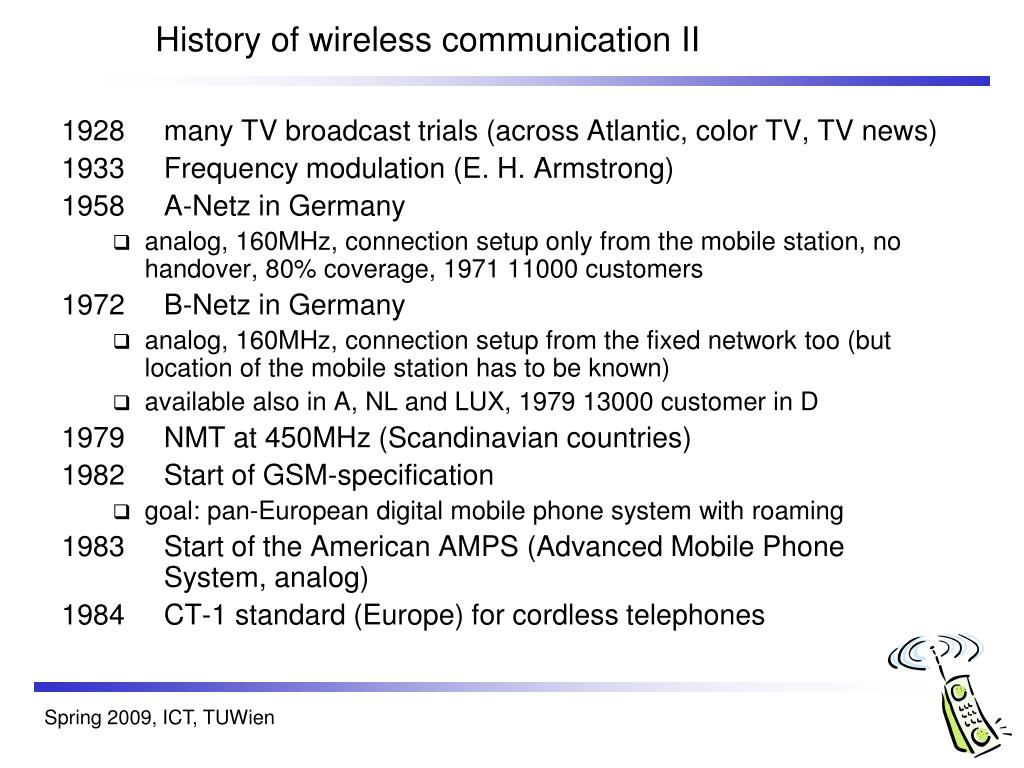 History of wireless communication II