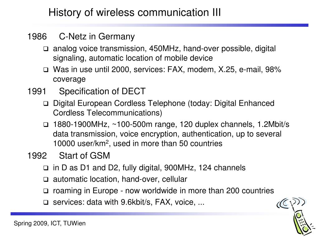 History of wireless communication III