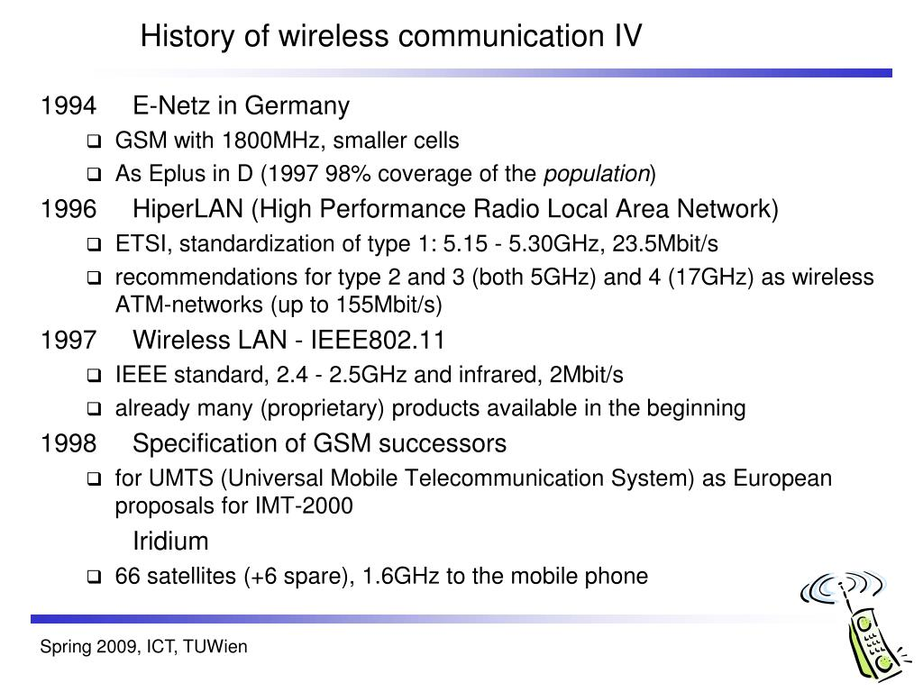History of wireless communication IV