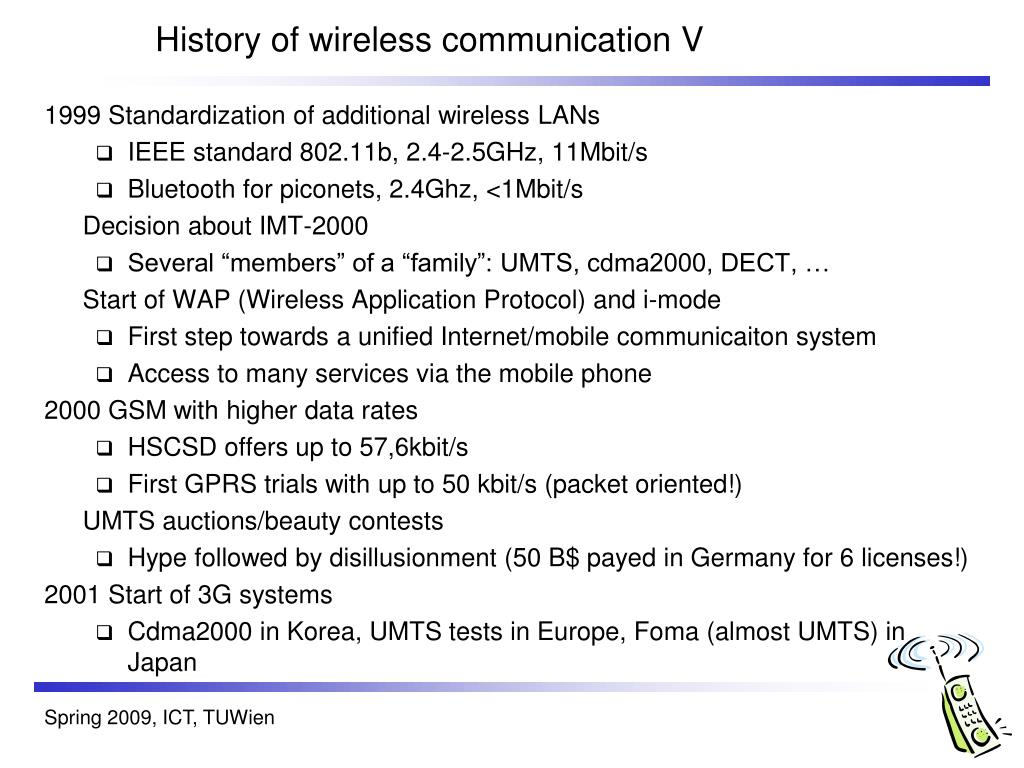 History of wireless communication V